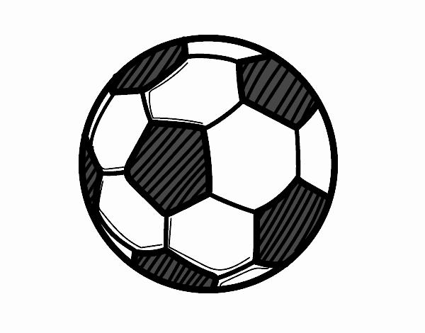 Dessin de le ballon de football colorie par membre non - Dessin ballon foot ...