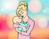 Mère bascule con bébé