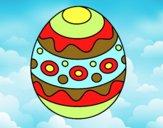 Un oeuf de Pâques à motifs