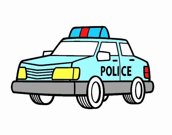 Dessin De Une Voiture De Police Colorie Par Membre Non Inscrit Le 02 De Mai De 2018 A Coloritou Com