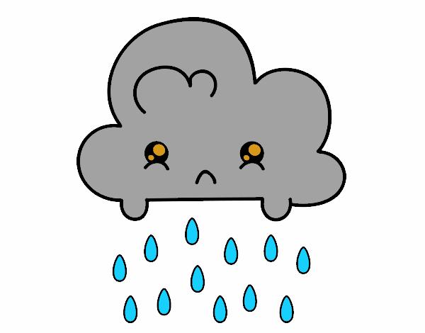 Dessin de nuage kawaii colorie par membre non inscrit le 19 de mai de 2018 - Nuage en dessin ...