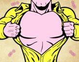 Super héros poitrine