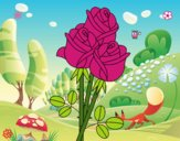 Coloriage Un bouquet de roses colorié par cousyn