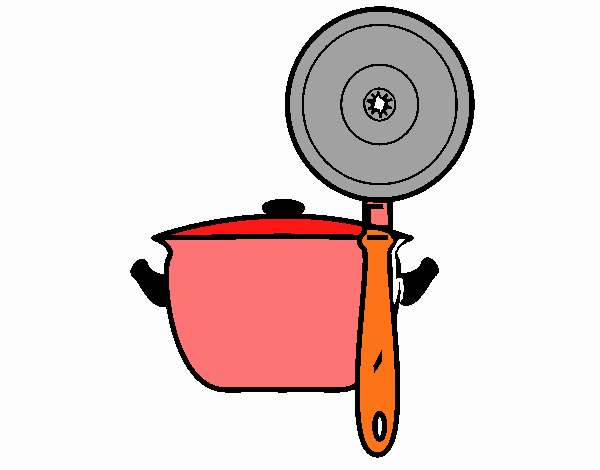 Dessin De Ustensiles De Cuisine Colorie Par Membre Non