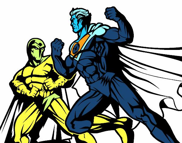 Dessin De Hero Et Mechant Combats Colorie Par Membre Non Inscrit Le 13 De Juillet De 2018 A Coloritou Com