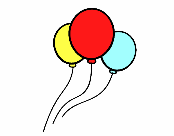 Dessin de Trois ballons colorie par Membre non inscrit le ...
