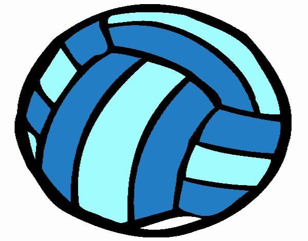 Coloriage Ballon De Volley.Dessin De Ballon De Volley Ball Colorie Par Membre Non