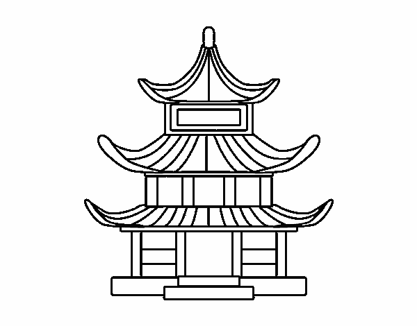 Dessin De Maison Traditionnelle Japonaise Colorie Par Membre
