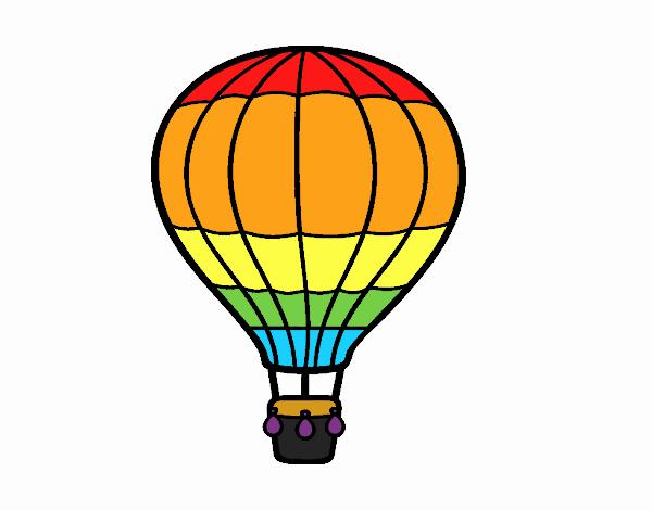 Dessin De Une Montgolfiere Colorie Par Membre Non Inscrit Le 22 De Septembre De 2019 A Coloritou Com