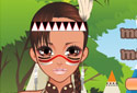 Fille mohican