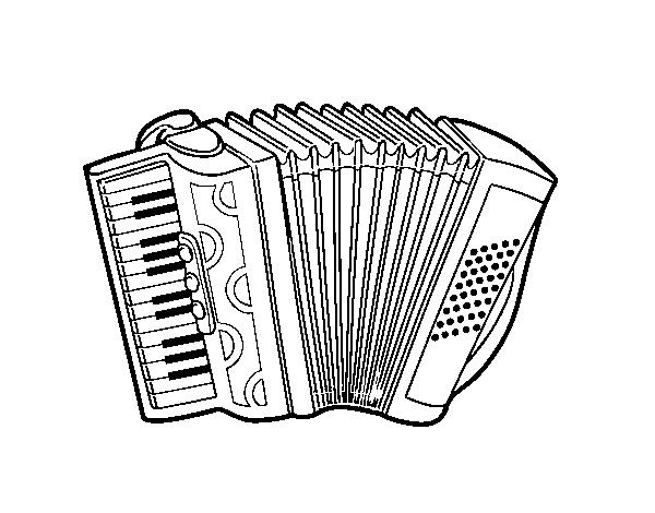 Coloriage De Accordéon Piano Pour Colorier Coloritou Com