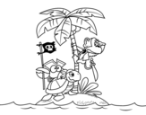 <span class='hidden-xs'>Coloriage de </span>Île pirate à colorier