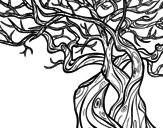 <span class='hidden-xs'>Coloriage de </span>Arbre fantasmatique à colorier