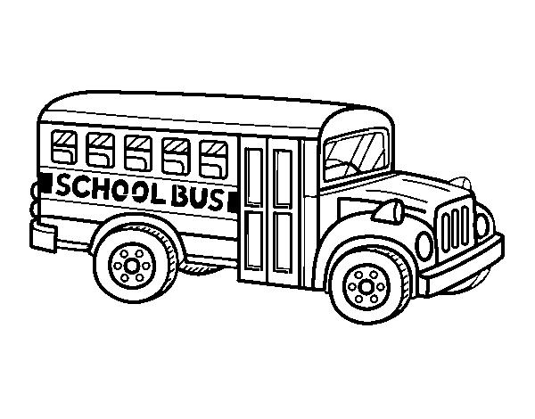 Coloriage De Autobus Scolaire Aux états Unis Pour Colorier