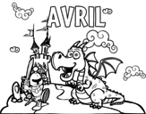 <span class='hidden-xs'>Coloriage de </span>Avril à colorier