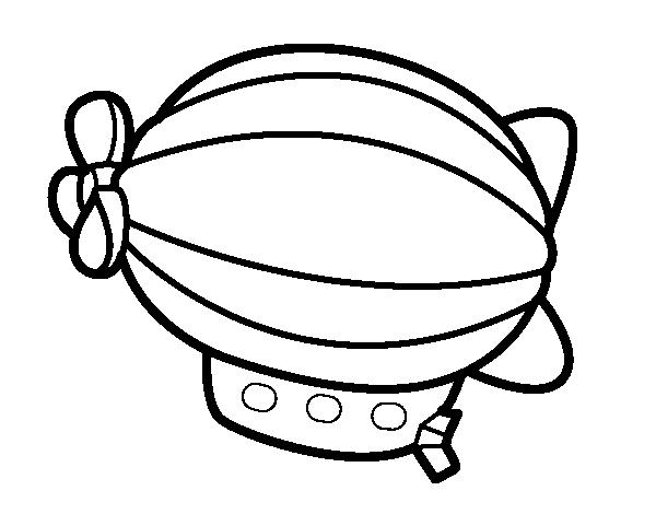 ballon dirigeable dessin