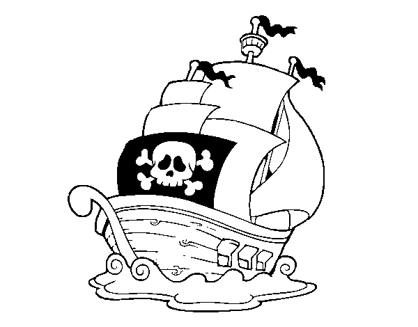 Coloriage De Bateau De Pirates Pour Colorier Coloritou Com