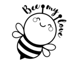 <span class='hidden-xs'>Coloriage de </span>Bee my love à colorier