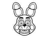 <span class='hidden-xs'>Coloriage de </span>Bonnie Toy visage de Five Nights at Freddy's à colorier