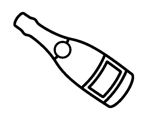 Coloriage De Bouteille De Vin De Champagne Pour Colorier Coloritou Com