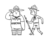 <span class='hidden-xs'>Coloriage de </span>Boy Scouts à colorier