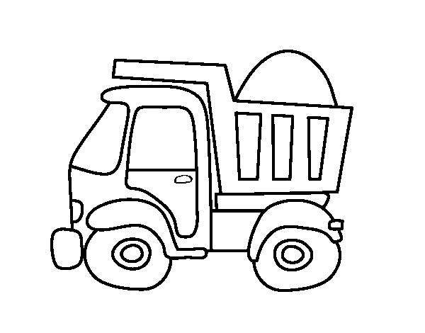 Coloriage de Camion de transport pour Colorier