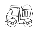 <span class='hidden-xs'>Coloriage de </span>Camion de transport à colorier