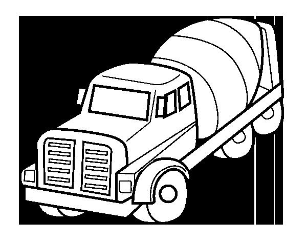 Coloriage de Camion malaxeur pour Colorier - Coloritou.com