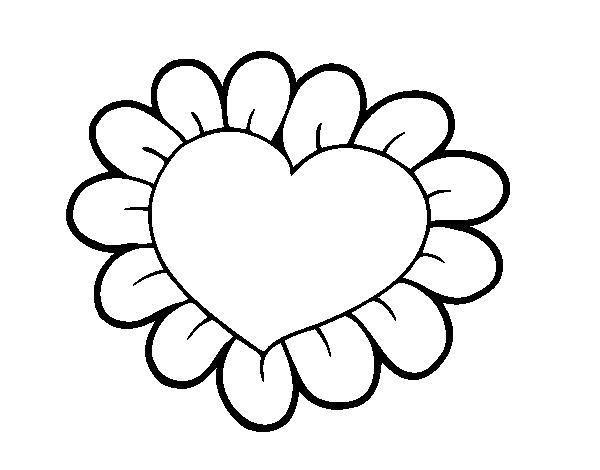 Coloriage De Cœur Fleur Pour Colorier Coloritou Com
