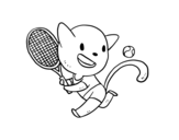 <span class='hidden-xs'>Coloriage de </span>Chat tenis à colorier