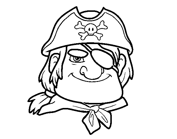 Coloriage de Chefs pirate pour Colorier