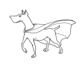 <span class='hidden-xs'>Coloriage de </span>Chien super-héro à colorier