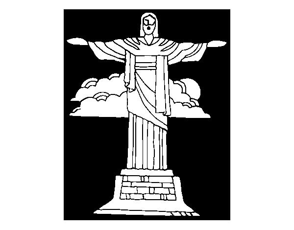 Dessin Christ Redempteur coloriage de christ rédempteur pour colorier - coloritou