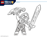 <span class='hidden-xs'>Coloriage de </span>Clay Nexo Knights à colorier