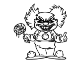 <span class='hidden-xs'>Coloriage de </span>Clown diabolique à colorier