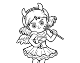 <span class='hidden-xs'>Coloriage de </span>Costume de diable à colorier