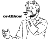 <span class='hidden-xs'>Coloriage de </span>David Bisbal chantant à colorier