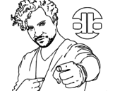 <span class='hidden-xs'>Coloriage de </span>David Bisbal chanteuse à colorier