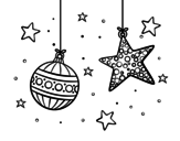<span class='hidden-xs'>Coloriage de </span>Décorations de Noël à colorier