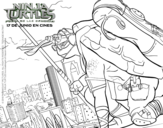 <span class='hidden-xs'>Coloriage de </span>Donatello Ninja Turtles à colorier