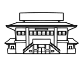 <span class='hidden-xs'>Coloriage de </span>École secondaire à colorier