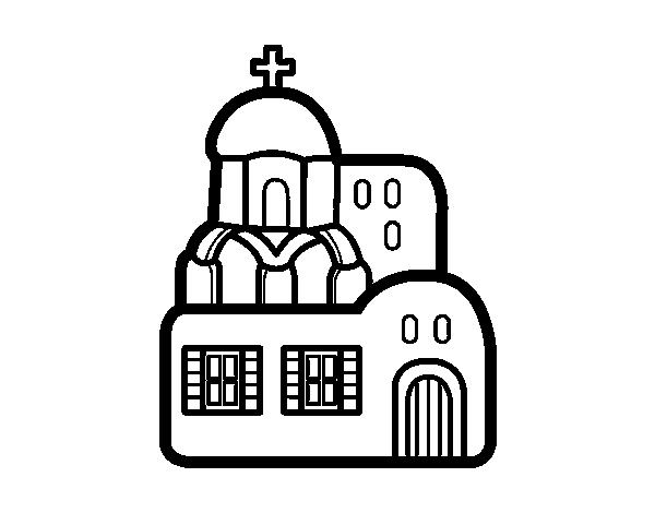 Coloriage De Eglise Pour Colorier Coloritou Com