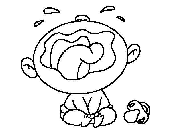 Coloriage Bebe Qui Pleure.Coloriage De Enfant Qui Pleure Pour Colorier Coloritou Com