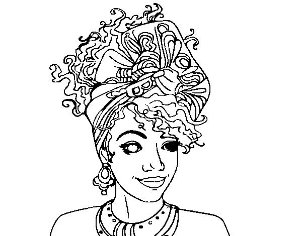 Coloriage De Femme Africaine Pour Colorier Coloritou Com
