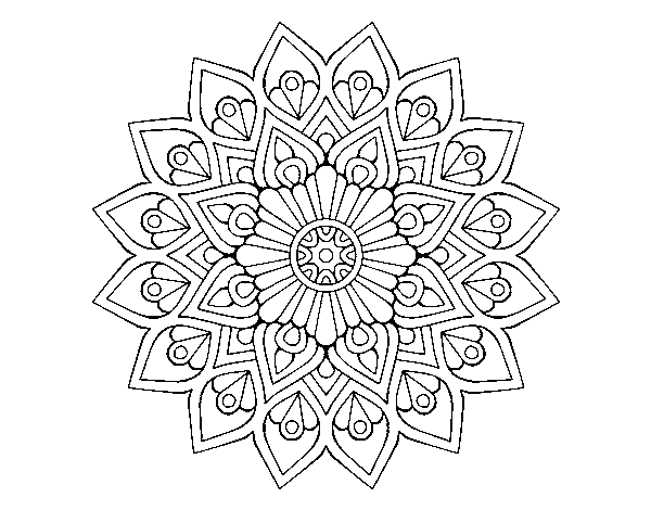 Coloriage de Flash mandala en augmentation pour Colorier