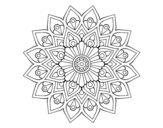 <span class='hidden-xs'>Coloriage de </span>Flash mandala en augmentation à colorier