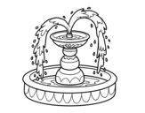 <span class='hidden-xs'>Coloriage de </span>Fontaine à colorier