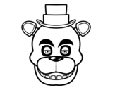 <span class='hidden-xs'>Coloriage de </span>Freddy visage de Five Nights at Freddy's à colorier