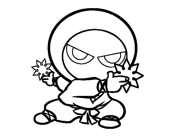 Coloriage De Garcon Ninja Pour Colorier Coloritou Com