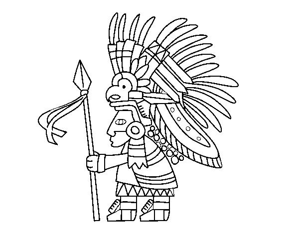 Coloriage de guerrier azt que pour colorier - Dessin azteque ...